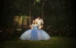 Cinderella and Prince Charming in the garden