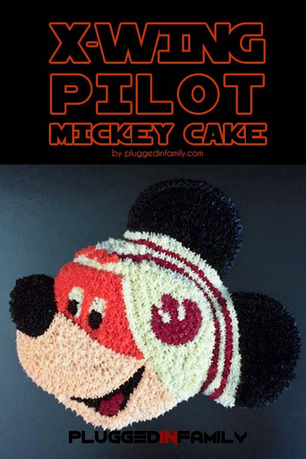 X-Wing Pilot Mickey Cake
