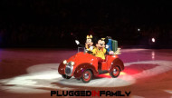 Mickey Mouse and Minnie in Mickey's car for Disney On Ice