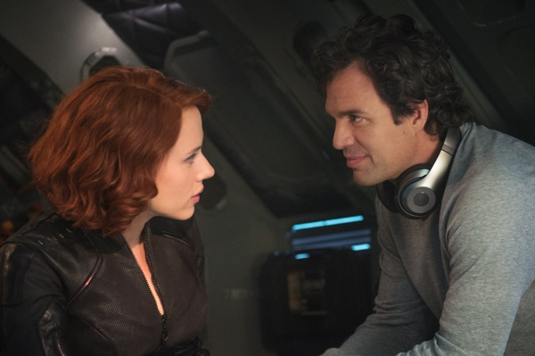 Black Widow and Bruce Banner get close in Avengers Age of Ultron