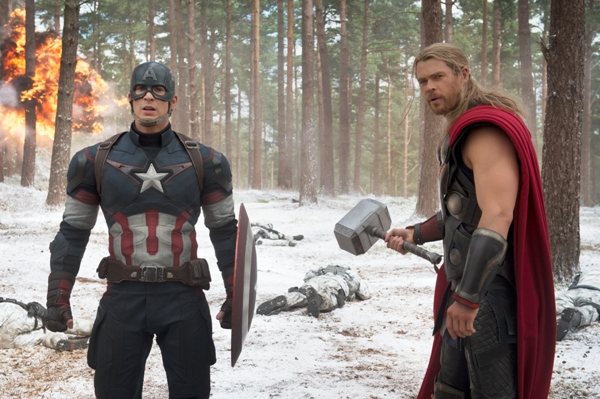 Thor and Captian America in Avengers Age of Ultron