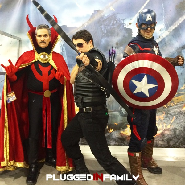 Dr. Strange, Hawkeye and Captain America from Arizona Avengers