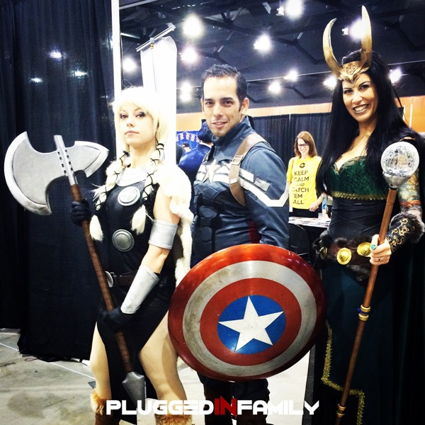 Female Thor, Captain America, and Female Loki