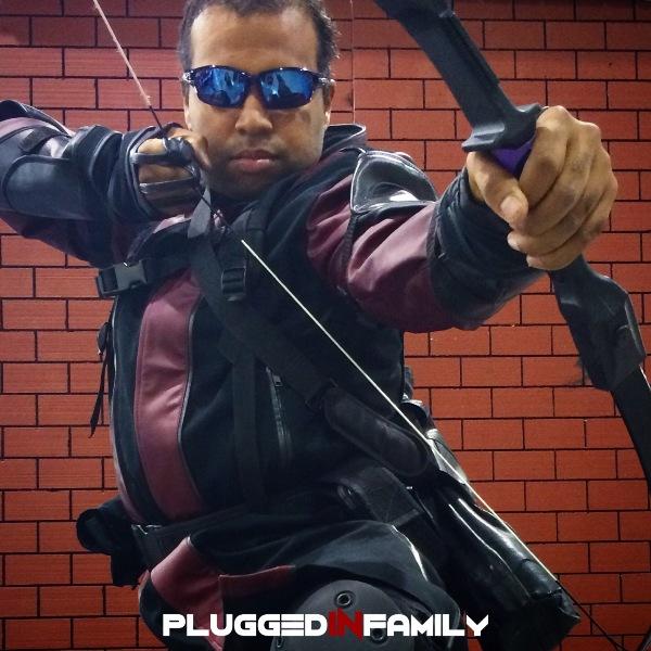 Johnny Carwell Jr as Hawkeye from Heroes United AZ