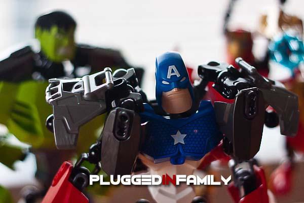 Hero Factory Hulk, Captain America, and Iron Man