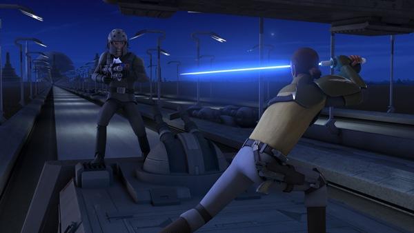Kanan fights Agent Kallus