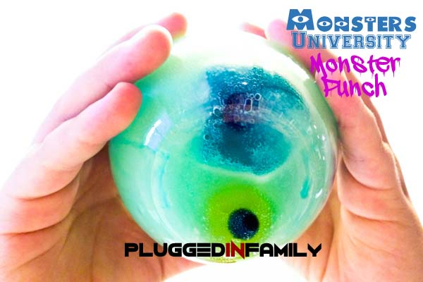 Monster eyeball in the bottom of the glass
