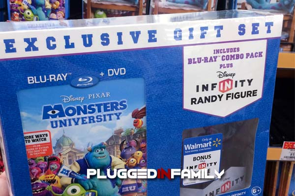 Monsters University DVD comes with Disney Infinity Randall figurine
