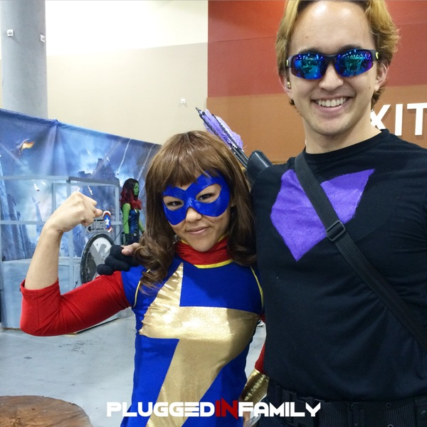 Ms. Marvel and Hawkeye from Arizona Avengers
