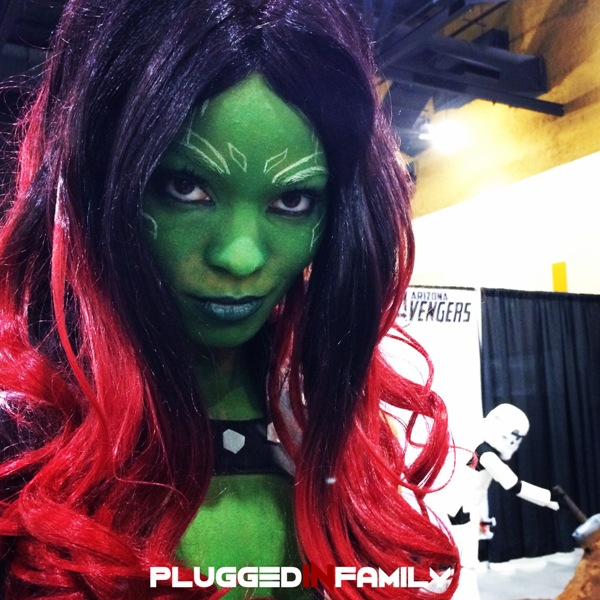 Sara Moni as Gamora from Guardians of the Galaxy