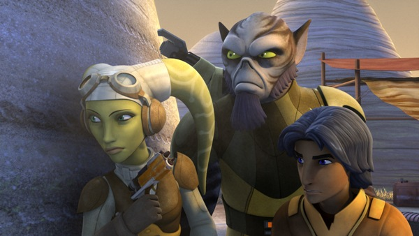 Zeb, Hera, and Ezra of Star Wars Rebels Season One