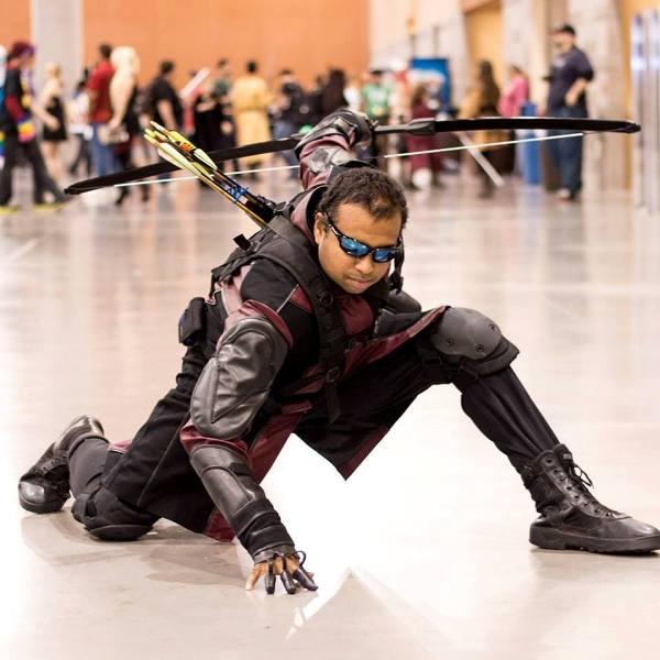Arizona Cosplayer Johnny Carwell Jr as Hawkeye. Photo by AJ Rodriguez