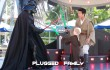 Fighting Darth Vader at Jedi Training Academy at Disneyland in 2008