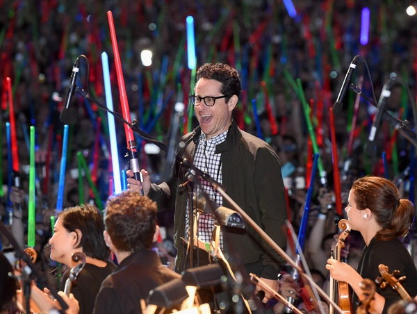 Director J.J. Abrams and more than 6000 fans enjoyed a surprise Star Wars Fan Concert performed by the San Diego Symphony, featuring the classic Star Wars music of composer John Williams, at the Embarcadero Marina Park South on July 10, 2015 in San Diego, California. Photo by Michael Buckner/Getty Images for Disney.