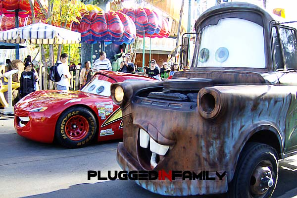 Mater and Lightening McQueen Appear at California Adventure in 2006
