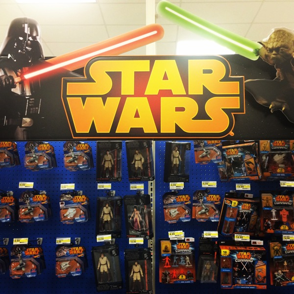 Star Wars toy section at Target
