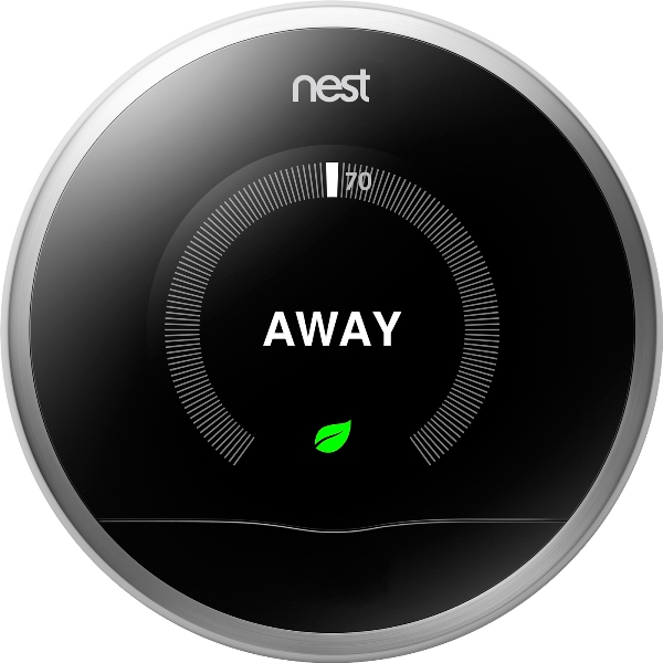 Nest thermostat set to away