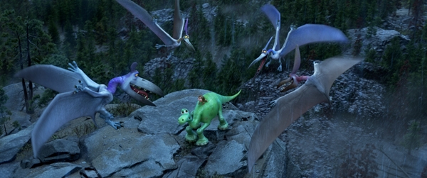 Scary scene with Arlo and Spot in The Good Dinosaur
