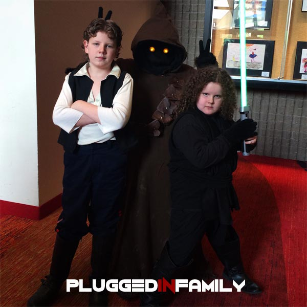 501st Legion Member with her sons from the Galactic Academy
