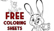 Free Zootopia Coloring Sheets Featured Photo