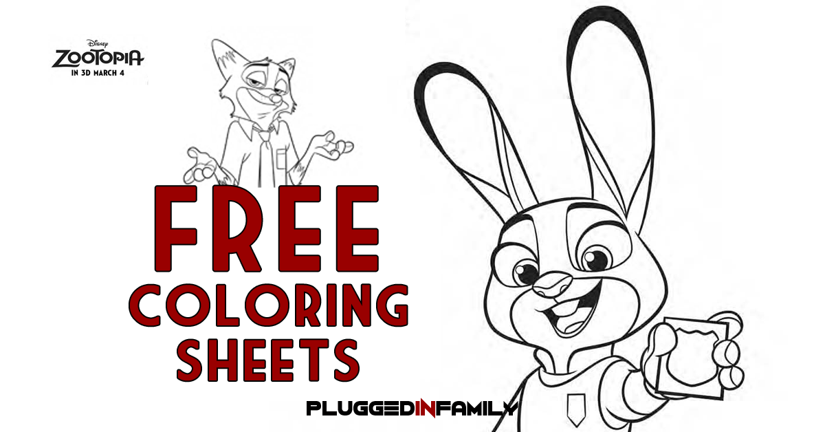 Coloring Page Zootopia : Download free zootopia coloring sheets plugged in family