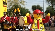 LEGO Figure Leads Marching Band at LEGOLAND Discovery Center Arizona