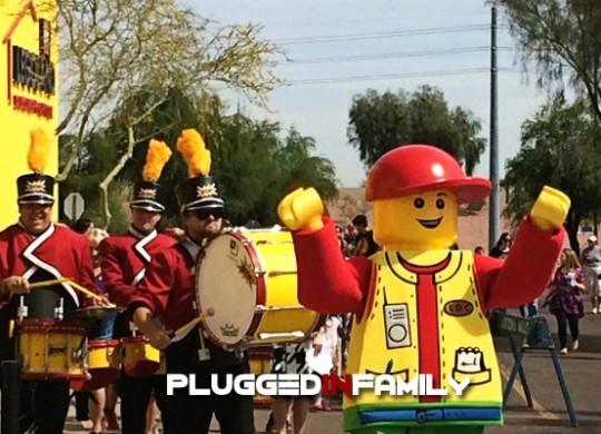 LEGO Figure Leads Marching Band at LEGOLAND Discovery Center Arizona