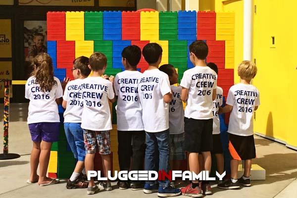 LEGOLAND Creative Crew Knocking Down LEGO Bricks