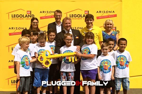 Mayor Mitchel Presented with a LEGO Key