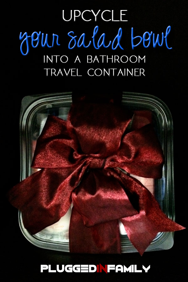 Upcycle Your Salad Bowl Into a Bathroom Travel Container