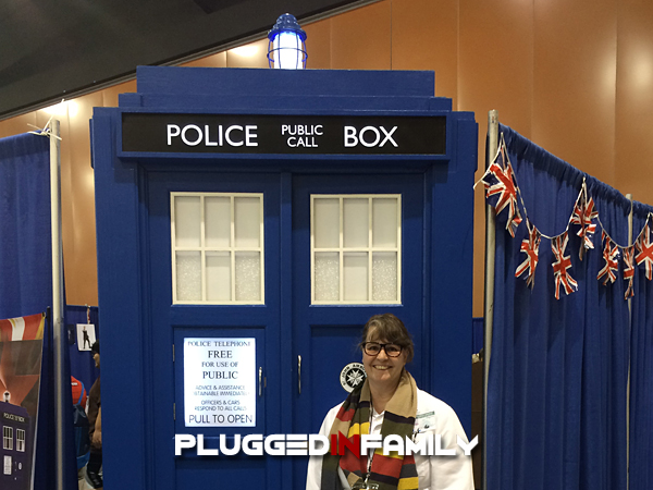 AZ Tardis at the Dr. Who Booth at Phoenix Comicon 2016