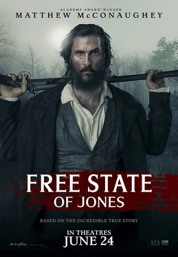 Free State of Jones movie poster by STX Entertainment