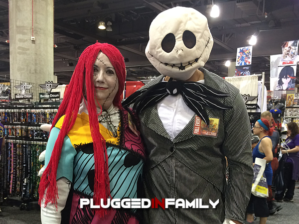Jack Skellington and Sally from The Nightmare Before Christmas at Phoenix Comicon 2016