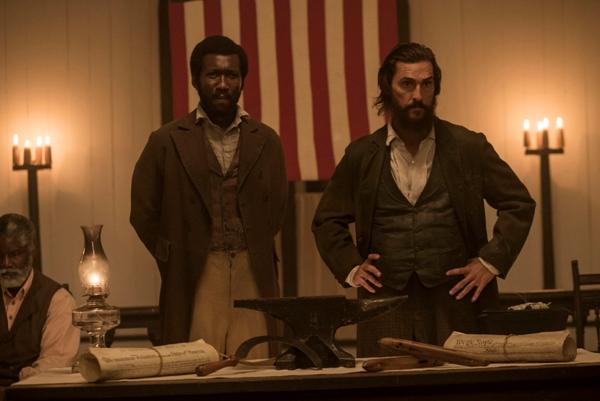 Maherashala Ali and Matthew McConaughey in Free State of Jones