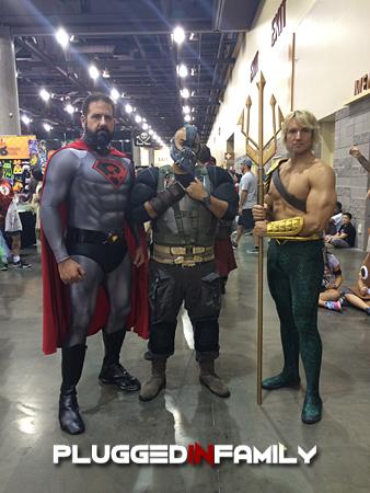 Russian Superman, Bane, Aquaman Cosplay at Phoenix Comicon 2016
