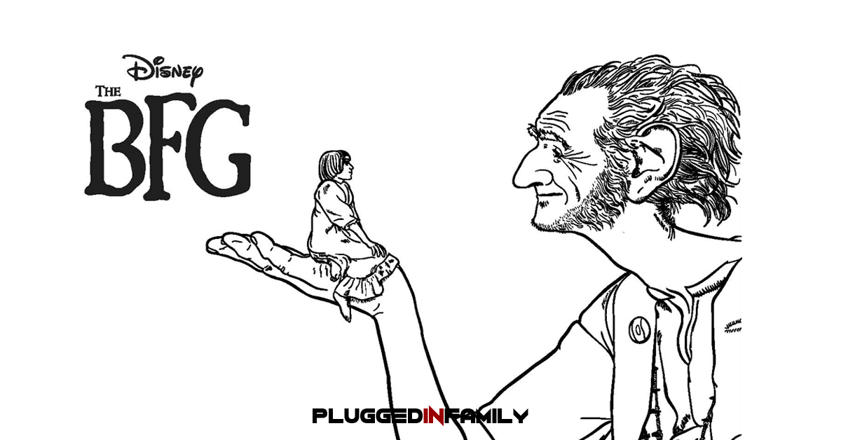 The BFG Coloring Sheets Plugged