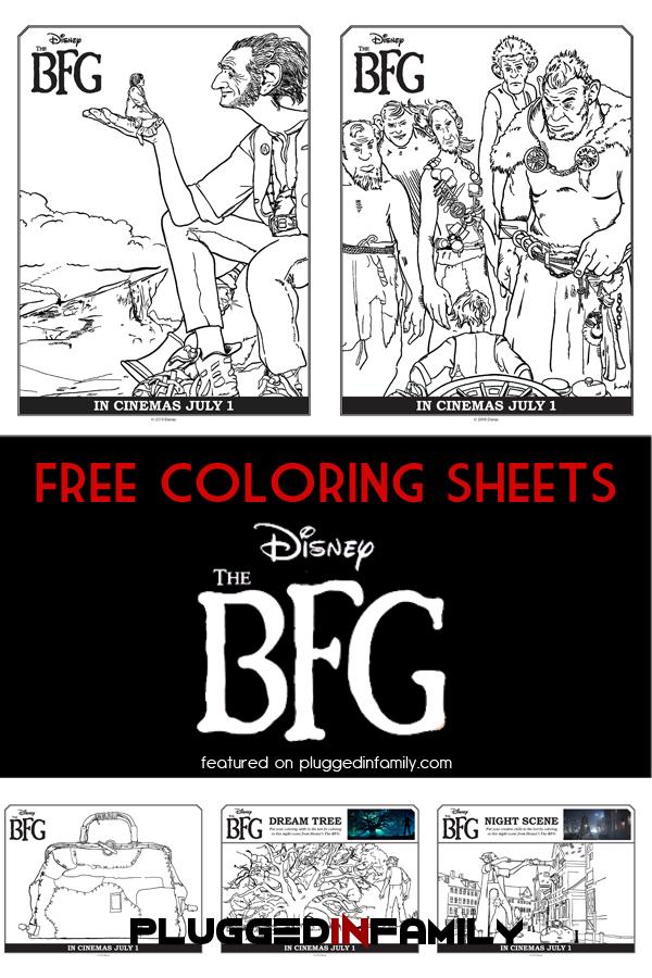 The BFG Free Coloring Sheets