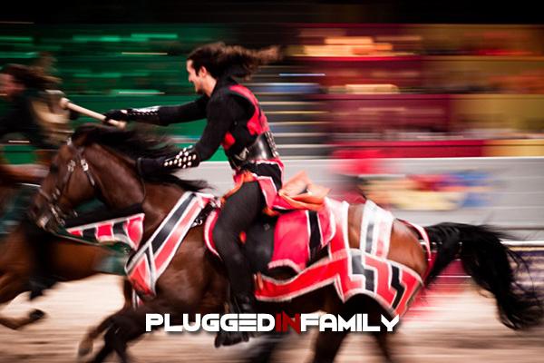 Medieval Times Dallas Castle Texas relay racing horses