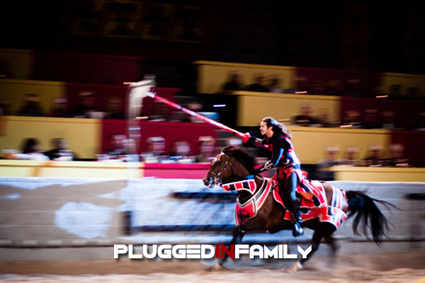 Medieval Times in Dallas, Texas where the Red Knight got the ring