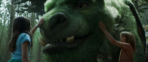 Petting the dragon in Pete's Dragon