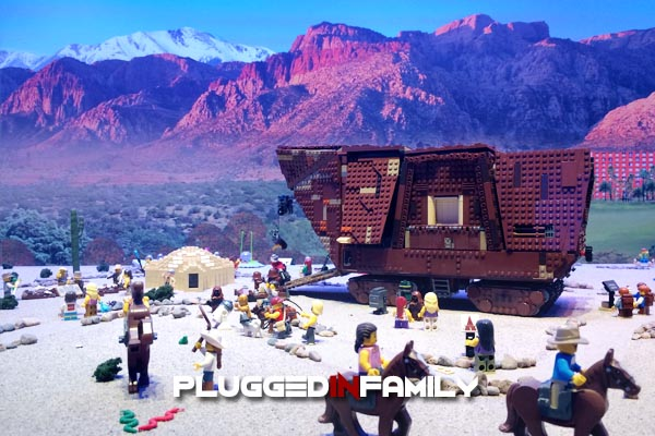 LEGO Sandcrawler in the Arizona Desert