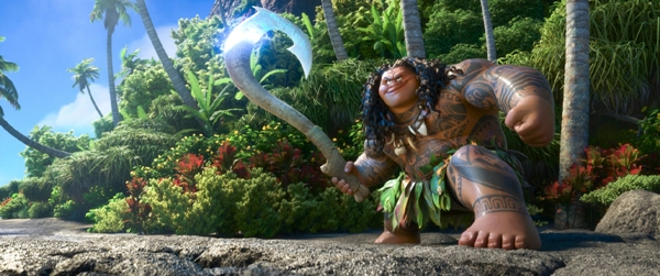 Maui voiced by Dwayne The Rock Johnson