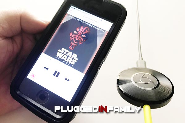 Cast music on your smartphone with Chromecast Audio