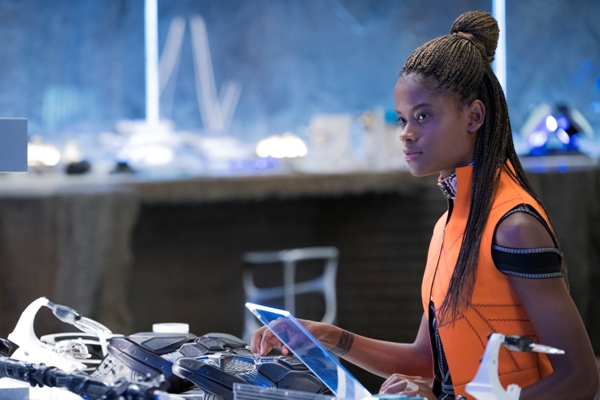 Black Pather's little sister is Shuri played by Letitia Wright