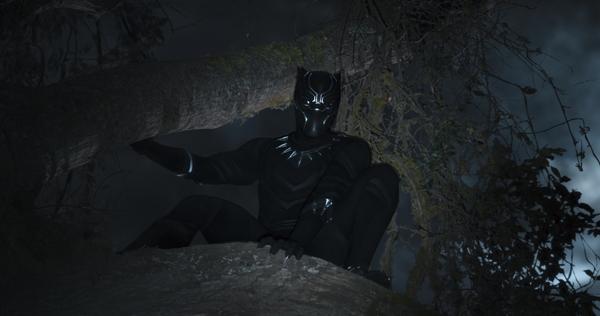Chadwick Boseman plays Black Panther