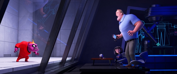 Edna Mode designs a new super suit for Incredibles 2