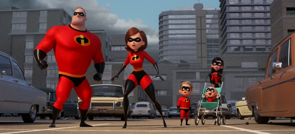 The Parr family from Incredibles 2