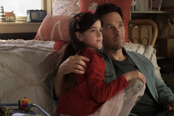 Paul Rudd plays Scott Lang holding daughter Cassie Ant-Man and The Wasp