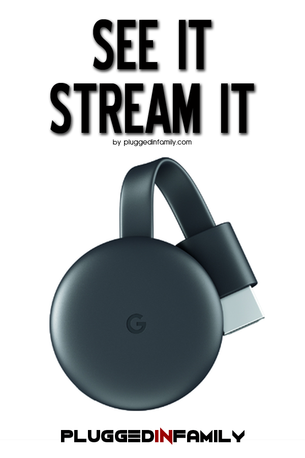 Google Chromecast Streaming Media Player See It Stream It