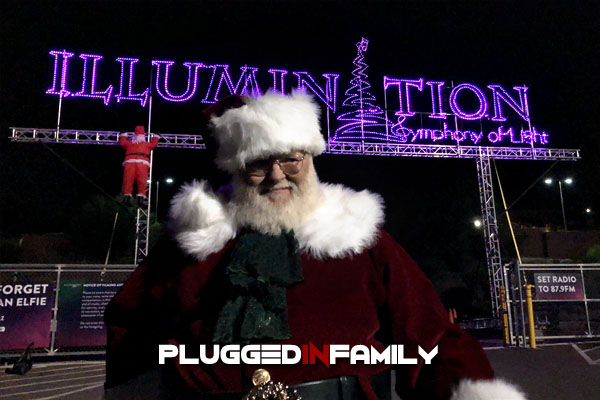 Santa Claus Appears at Illumination AZ Opening Night Tempe